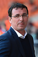 Blackpool manager Gary Bowyer looks on<br /> <br /> Photographer Richard Martin-Roberts/CameraSport<br /> <br /> The EFL Sky Bet League One - Blackpool v Milton Keynes Dons - Saturday August 12th 2017 - Bloomfield Road - Blackpool<br /> <br /> World Copyright &copy; 2017 CameraSport. All rights reserved. 43 Linden Ave. Countesthorpe. Leicester. England. LE8 5PG - Tel: +44 (0) 116 277 4147 - admin@camerasport.com - www.camerasport.com