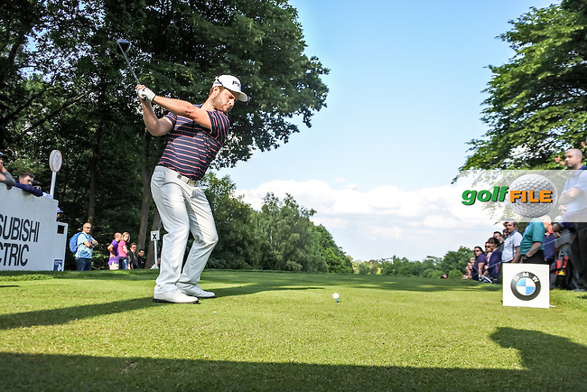 David Lingmerth (SWE) on the 17th during  round 1 of the 2016 BMW PGA Championship. Wentworth Golf Club, Virginia Water, Surrey, UK. 26/05/2016.<br /> Picture Fran Caffrey / Golffile.ie<br /> <br /> All photo usage must carry mandatory copyright credit (&copy; Golffile | Fran Caffrey)