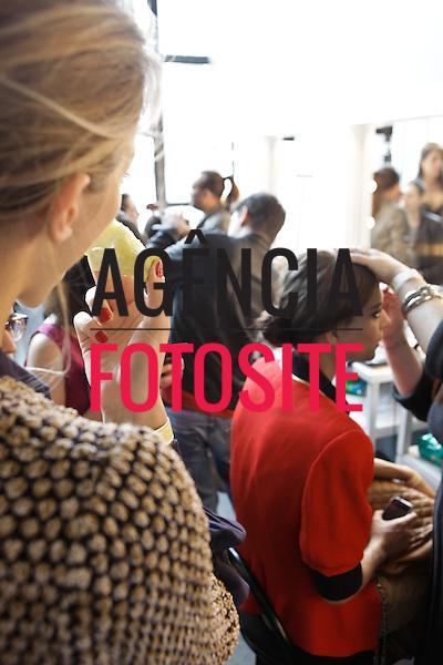 Sao Paulo, Brasil – 19/01/2012 - Backstage do desfile de Animale durante o SPFW  -  Inverno  2012. Foto : Sergio Caddah / Ag. Fotosite