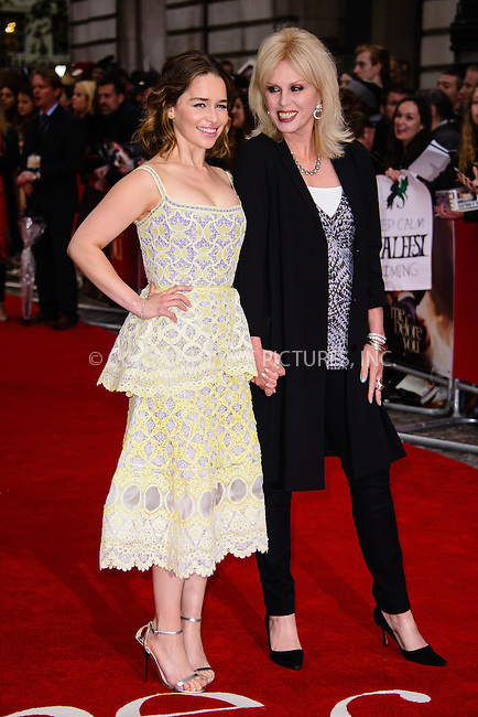 WWW.ACEPIXS.COM<br /> <br /> May 25 2016, New York City<br /> <br /> Emilia Clarke and Joanna Lumley attending the UK premiere of 'Me Before You' at The Curzon Mayfair on May 25, 2016 in London, England. <br /> <br /> By Line: Famous/ACE Pictures<br /> <br /> <br /> ACE Pictures, Inc.<br /> tel: 646 769 0430<br /> Email: info@acepixs.com<br /> www.acepixs.com