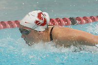 STANFORD, CA - JANUARY 22:  Megan Fischer-Colbrie of the Stanford Cardinal during Stanford's 173-125 win over Arizona on January 22, 2010 at the Avery Aquatic Center in Stanford, California.