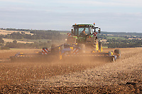 22.7.2020 Incorporating compost and sewage sludge blend into oilseed rape stubble in Rutland <br />  ©Tim Scrivener Photographer 07850 303986<br />      ....Covering Agriculture In The UK.