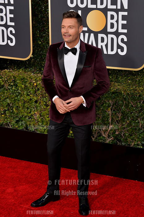 LOS ANGELES, CA. January 06, 2019: Ryan Seacrest at the 2019 Golden Globe Awards at the Beverly Hilton Hotel.<br /> Picture: Paul Smith/Featureflash