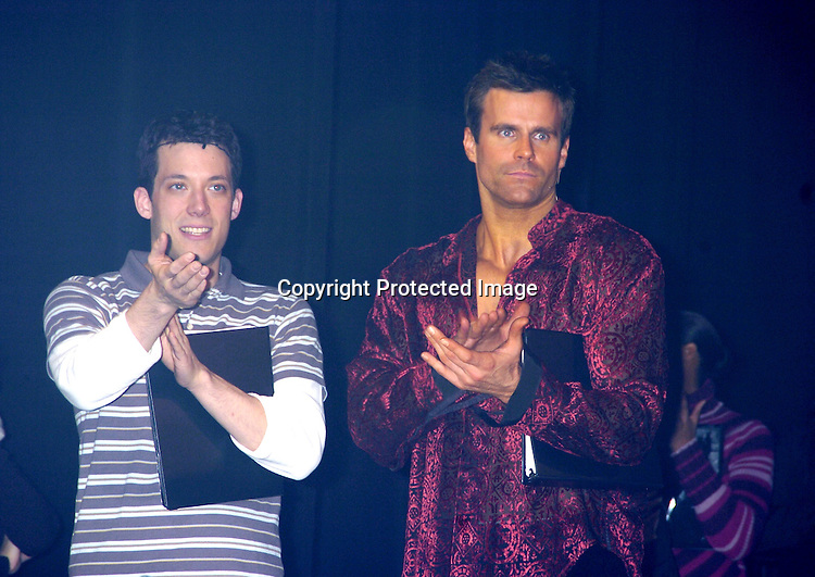 "John Tartaglia, Cameron Mathison..at a performance of ""Pippin"" A Concert to Benefit The National Aids Fund and The Storm Theatre on November 29, 2004 at The Manhattan Center's Grand Ballroom...PHoto by Robin Platzer, Twin Images"