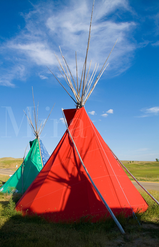 Teepee at Custers Last Stand, Little Big Horn, Montana
