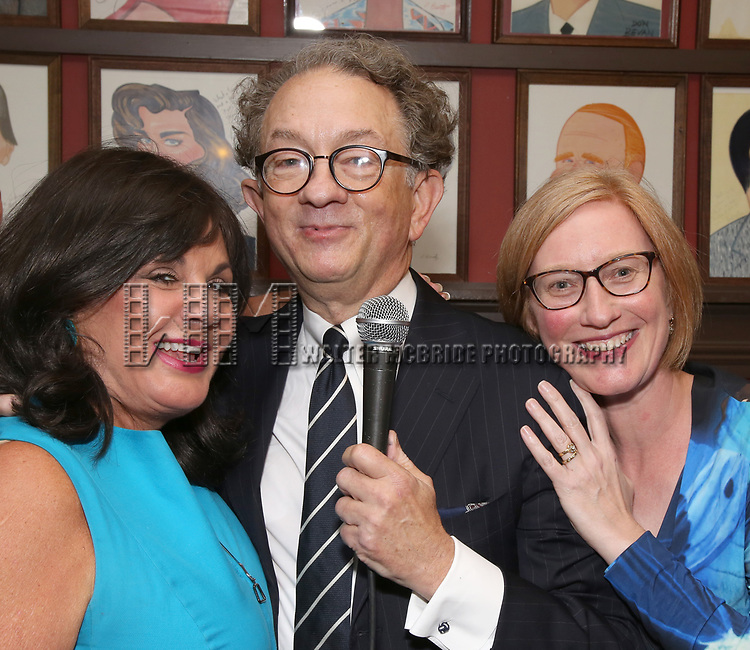 Charlotte St. Martin, William Ivey Long and Heather A. Hitchens attend the William Ivey Long Sardi's portrait unveiling and 70th Birthday Party at Sardi's Restaurant on August 30, 2017 in New York City.