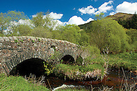 The historic 18th century double-arched bridge spanning the Leacann Water near Furnace, Argyll & Bute