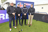 Matt Wallace (ENG) and team during the Hero Pro-am at the Betfred British Masters, Hillside Golf Club, Lancashire, England. 08/05/2019.<br /> Picture Fran Caffrey / Golffile.ie<br /> <br /> All photo usage must carry mandatory copyright credit (&copy; Golffile | Fran Caffrey)