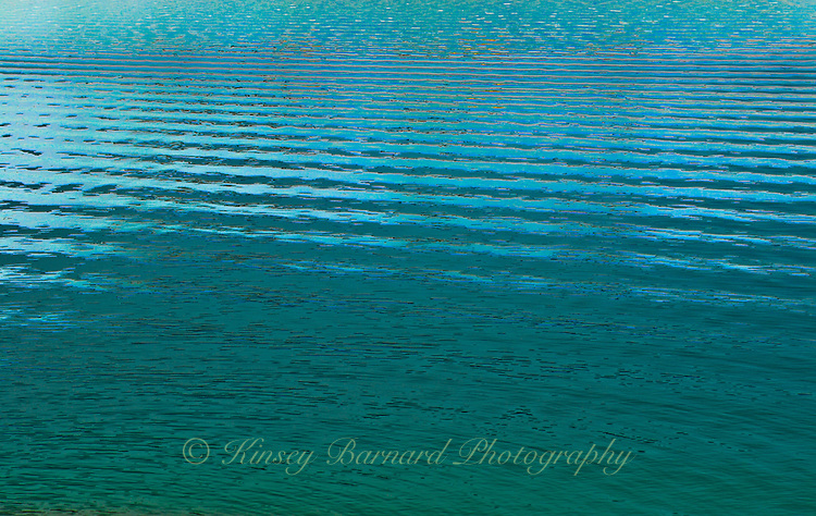 Ripples on the surface of a Canadian lake.