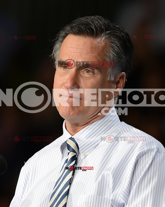 CORAL GABLES FL- OCTOBER 31:  Gov Mitt Romney remarks during a Campaign event at the University of Miami on October 31, 2012 in in Coral Gables, Florida. Credit: mpi04/MediaPunch Inc. /NortePhoto