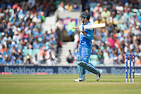 MS Dhoni (India) the seventh wicket to fall with the score at 91 during India vs New Zealand, ICC World Cup Warm-Up Match Cricket at the Kia Oval on 25th May 2019