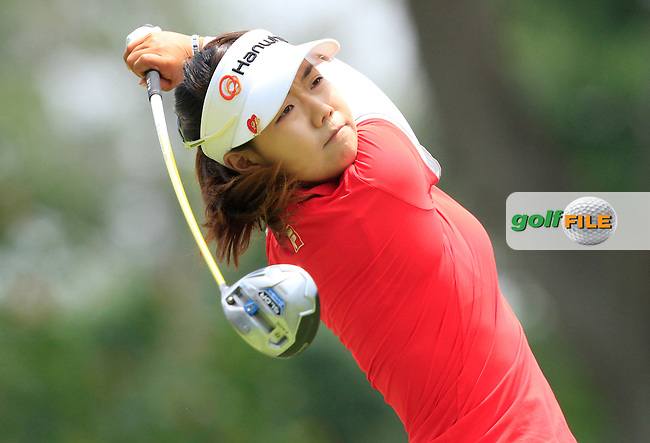 Jenny Shin (USA) on the 9th tee during Round 2 of the HSBC Women's Champions at the Sentosa Golf Club, The Serapong Course in Singapore on Friday 6th March 2015.<br /> Picture:  Thos Caffrey / www.golffile.ie