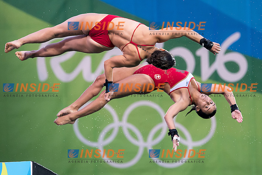 10m synchro women<br /> CAN BENFEITO Meaghan FILION Roseline<br /> Rio de Janeiro XXXI Olympic Games <br /> Olympic Aquatics Stadium <br /> diving 09/08/2016<br /> Photo Giorgio Scala/Deepbluemedia/Insidefoto