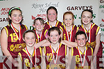 Scoil Mhathair De, Abbeyfeale who played Firies NS in the District NS Girls Senior A final at the St Mary's Basketball Blitz in Castleisland on Wednesday front row l-r: Ciara Houlihan, Ashling O'Connell. Back row: Marie O'Connell, Emma Sexton, Marie Harnett, Tina Maloney and Aoife Woulfe