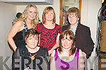 FORTY: Killarney lady, Marie O'Sullivan (seated right) celebrated her 40th birthday last Saturday night in Bella Bia restaurant, Tralee with friends, seated left Elizabeth Hickey. Back l-r: Rena O'Sullivan, Siobhan Cullahane and Joan O'Sullivan.