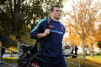 Lewis Bean and the rest of the Worcester Warriors team arrive at Allianz Park. Premiership Rugby Cup match, between Saracens and Worcester Warriors on November 11, 2018 at Allianz Park in London, England. Photo by: Patrick Khachfe / JMP