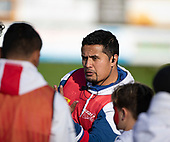 Ardmore Marist Coach Doug Sanft. Counties Manukau Premier 1 McNamara Cup Final between Ardmore Marist and Bombay, played at Navigation Homes Stadium on Saturday July 20th 2019.<br />  Bombay won the McNamara Cup for the 5th time in 6 years, 33 - 18 after leading 14 - 10 at halftime.<br /> Photo by Richard Spranger.