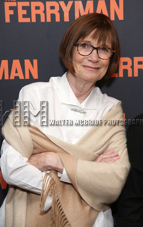 """Ann McDonough attends the """"The Ferryman"""" cast change photo call on January 17, 2019 at the Sardi's in New York City."""