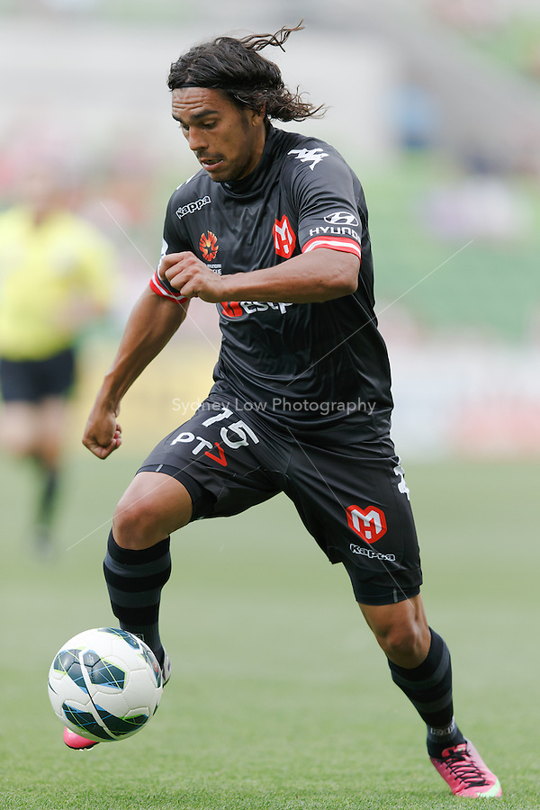 MELBOURNE - 9 FEB: David WILLIAMS of the Heart controls then ball in the round 20 A-League match between Melbourne Heart and Perth Glory at AAMI Park on 9 February 2013. (Photo Sydney Low/syd-low.com/Melbourne Heart)