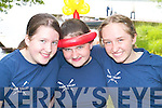 SMILES: Niamh ORaw, Meadbh McSweeney, Michelle.Griffin (all Flesk Valley) enjoying the Killarney Regatta.at OMahonys Point last Sunday.