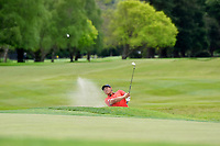 Yuan Yechum (China) in action during the Asia- Pacific Amateur Championship at Royal Wellington Golf Club, Wellington, New Zealand on Sunday 29 October.<br /> Photo by Masanori Udagawa. <br /> www.photowellington.photoshelter.com