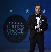 SANTA MONICA, CA - JANUARY 11: Ewan McGregor accepts Best Actor in a Movie/Limited Series for 'Fargo' at the 23rd Annual Critics' Choice Movie Awards at Barker Hangar on January 11, 2018 in Santa Monica, California. (Photo by Frank Micelotta/PictureGroup)
