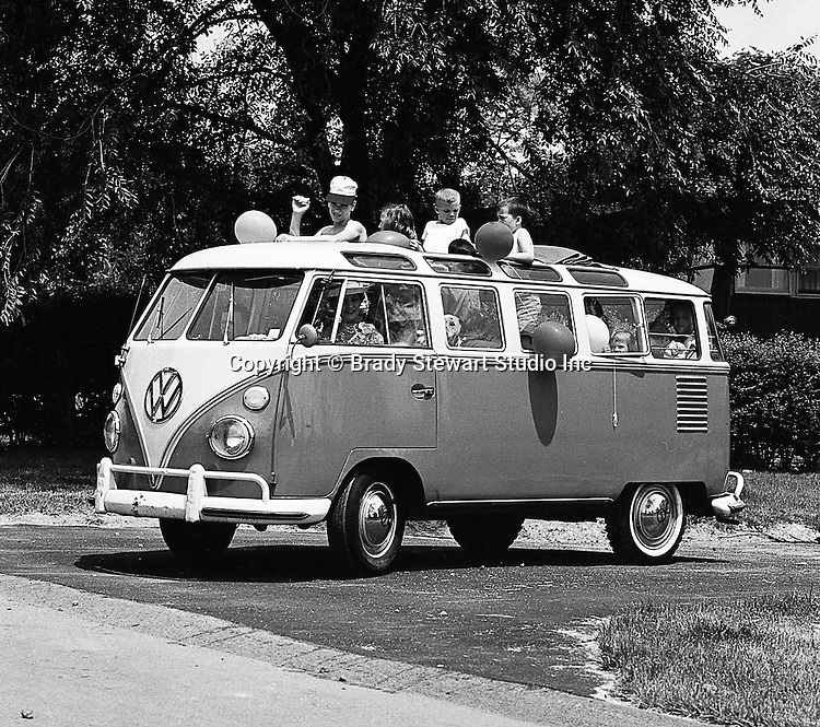 Bethel Park PA:  Brady Stewart Jr hired a model, neighborhood children and a few Stewarts for the on location shoot for a local Volkswagon dealership - 1966