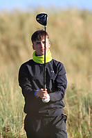 Eoin Sullivan (Carton House) on the 11th tee during Round 3 of the Ulster Boys Championship at Royal Portrush Golf Club, Valley Links, Portrush, Co. Antrim on Thursday 1st Nov 2018.<br /> Picture:  Thos Caffrey / www.golffile.ie<br /> <br /> All photo usage must carry mandatory copyright credit (&copy; Golffile | Thos Caffrey)