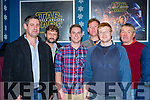 The men who worked on the safety on the set at  the Premiere of the Star Wars The Force Awakens in Killarney Cinema on Thursday l-r: Cian O'Driscoll, John Hussey, Philip O'Dowd, Piaras Kelly, David O'Donoghue and Mike Ward