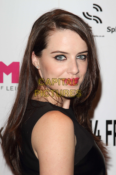 Michelle Ryan.Film4 Frightfest - World Premiere - 'Cockneys vs Zombies' at the Empire, Leicester Square, London, England..August 23rd 2012.headshot portrait black sleeveless pink lipstick side .CAP/ROS.©Steve Ross/Capital Pictures