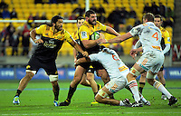 Ben May in action during the Super Rugby semifinal match between the Hurricanes and Chiefs at Westpac Stadium, Wellington, New Zealand on Saturday, 30 July 2016. Photo: Dave Lintott / lintottphoto.co.nz