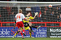 Mark Roberts of Stevenage scores a late equaliser  . - Stevenage v Preston North End - npower League 1 - Lamex Stadium, Stevenage - 9th April, 2012. © Kevin Coleman 2012
