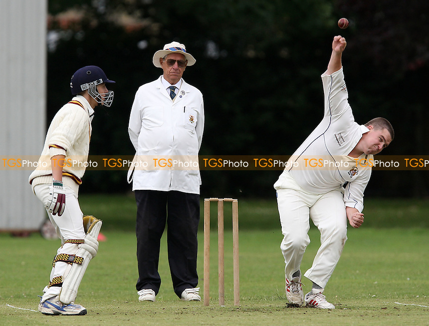 N Hutchison of Hornchurch Athletic bowls as C Crosseley backs up - Hornchurch Athletic CC vs Leyton County CC - Lords International Cricket League at Hylands Park - 12/07/08 - MANDATORY CREDIT: Gavin Ellis/TGSPHOTO - Self billing applies where appropriate - Tel: 0845 094 6026.