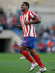 Atletico de Madrid's Cleber Santana reacts during La Liga match. September 12, 2009. (ALTERPHOTOS/Alvaro Hernandez)