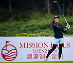 Xiyu Lin of China in action during the Hyundai China Ladies Open 2014 Pro-am on December 10 2014, in Shenzhen, China. Photo by Xaume Olleros / Power Sport Images