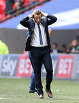 Millwall's Neil Harris looks on dejected during the League One Play-Off Final match at Wembley Stadium, London. Picture date: May 20th, 2017. Pic credit should read: David Klein/Sportimage