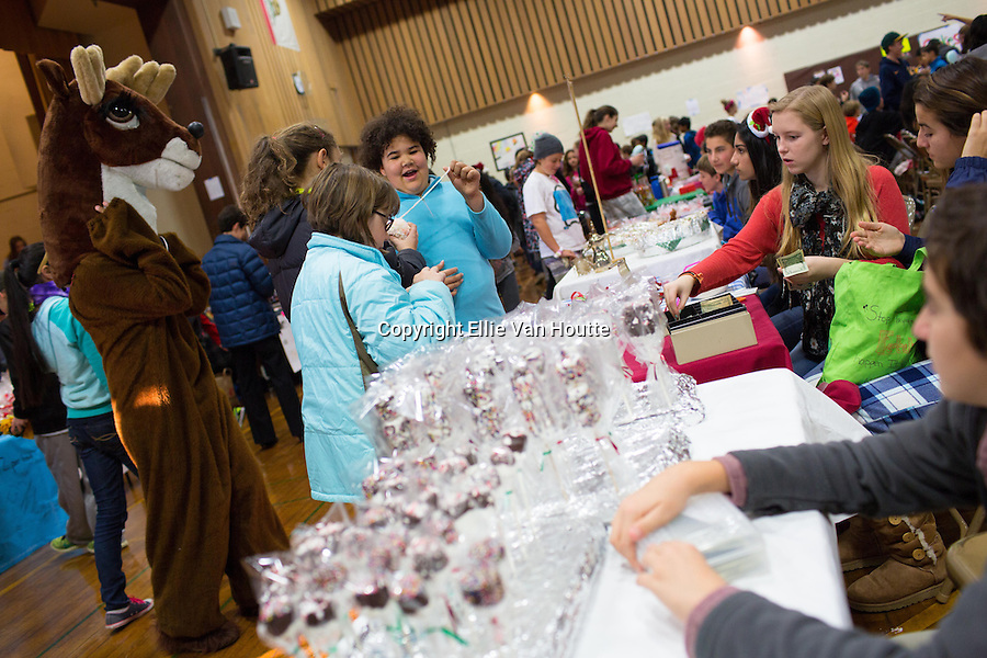 Students shop for gifts at the Egan Junior High Holiday Faire.