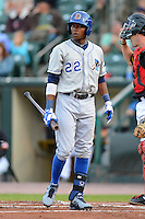 Durham Bulls shortstop Tim Beckham #22 during a game against the Rochester Red Wings on May 17, 2013 at Frontier Field in Rochester, New York.  Rochester defeated Durham 11-6.  (Mike Janes/Four Seam Images)