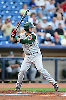 Fort Wayne TinCaps catcher Ryan Miller (20) at bat during a game against the Lake County Captains on August 21, 2014 at Classic Park in Eastlake, Ohio.  Lake County defeated Fort Wayne 7-8.  (Mike Janes/Four Seam Images)