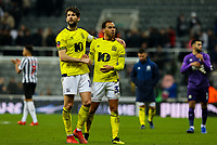 Blackburn Rovers' Charlie Mulgrew and Elliott Bennett applaud the fans after the match<br /> <br /> Photographer Alex Dodd/CameraSport<br /> <br /> Emirates FA Cup Third Round - Newcastle United v Blackburn Rovers - Saturday 5th January 2019 - St James' Park - Newcastle<br />  <br /> World Copyright &copy; 2019 CameraSport. All rights reserved. 43 Linden Ave. Countesthorpe. Leicester. England. LE8 5PG - Tel: +44 (0) 116 277 4147 - admin@camerasport.com - www.camerasport.com