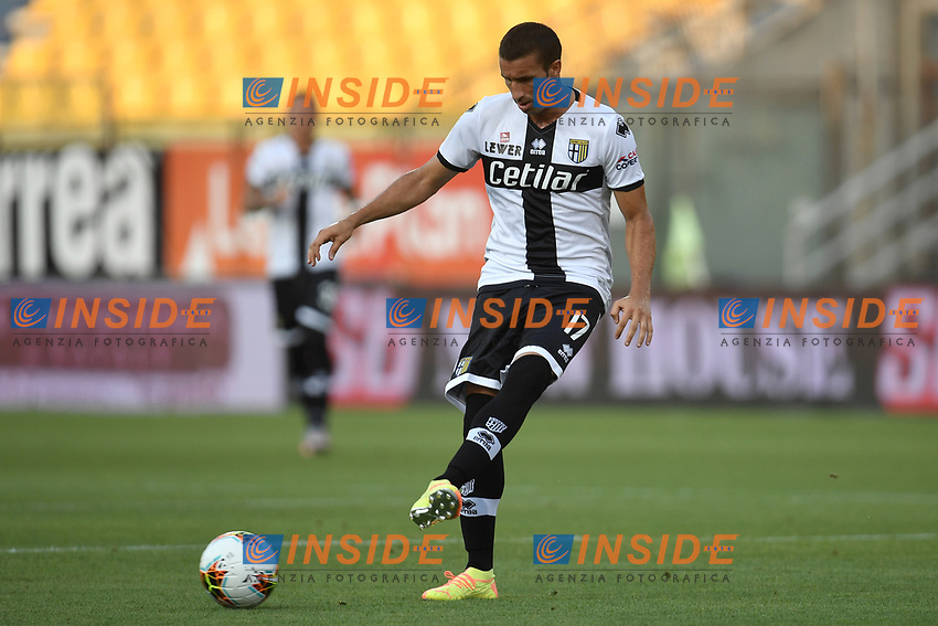 Antonino Barilla of Parma during the Serie A football match between Parma Calcio and Atalanta BC at Ennio Tardini stadium in Parma (Italy), July 28th, 2020. Play resumes behind closed doors following the outbreak of the coronavirus disease. Photo Andrea Staccioli / Insidefoto