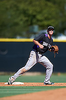 Colorado Rockies Taylor Snyder (70) during an Instructional League game against the Los Angeles Angels of Anaheim on October 6, 2016 at the Tempe Diablo Stadium Complex in Tempe, Arizona.  (Mike Janes/Four Seam Images)