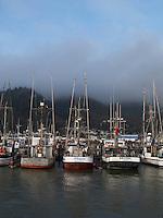Fishing boats at dock in Garibaldi, Oregon Coast