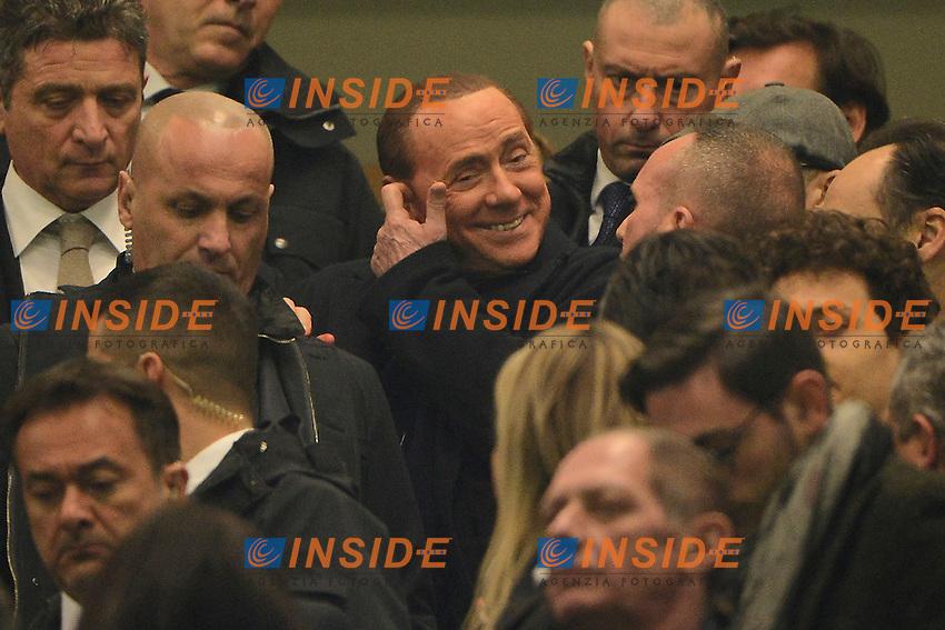 Silvio Berlusconi Milan<br /> Milano 31-01-2016 Stadio Giuseppe Meazza - Football Calcio Serie A Milan - Inter. Foto Giuseppe Celeste / Insidefoto