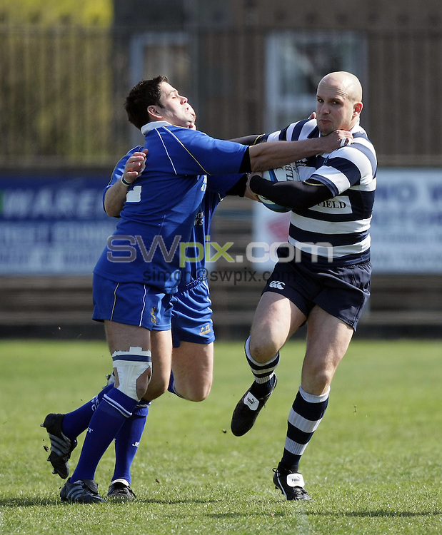 PICTURE BY VAUGHN RIDLEY/SWPIX.COM - Rugby Union - Scottish Hydro Electric National Cup Semi-Finals - Heriot's v Jed Forest - Goldenacre, Edinburgh, Scotland - 19/04/08...Copyright - Simon Wilkinson - 07811267706..Heriot's Cameron Bruce.