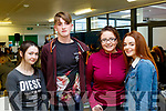 Collage Fun<br /> -----------------<br /> L-R Kaya Flynn, Castlemaine, Kieran O'Connor, Inch, Leanne O'Regan, Ballyheigue and Kathy Hughes, Tralee at their Induction day fun at the Kerry Collage of Further Education, Clash, Tralee last Monday