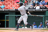 Empire State Yankees outfielder Dewayne Wise #10 during a game against the Buffalo Bisons at Coca-Cola Field on April 12, 2012 in Buffalo, New York.  Empire State defeated Buffalo 7-2.  (Mike Janes/Four Seam Images)