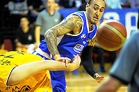 Leon Henry in action during the national basketball league match between Wellington Saints and Mountain Airs at TSB Bank Arena, Wellington, New Zealand on Friday, 6 May 2016. Photo: Dave Lintott / lintottphoto.co.nz