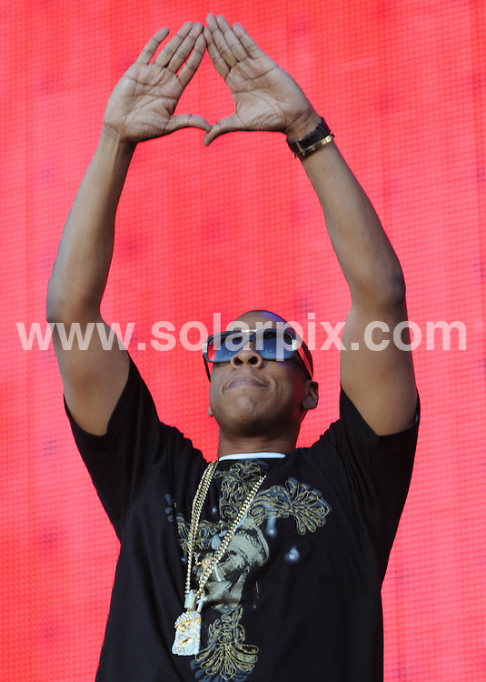 **ALL ROUND PICTURES FROM SOLARPIX.COM**.**WORLDWIDE SYNDICATION RIGHTS**.Artists perform at the Projekt Revolution concert at Clapham Common, London, UK. 29th June 2008..This pic: Jay Z..JOB REF: 6742 SSD     DATE: 29_06_2008.**MUST CREDIT SOLARPIX.COM OR DOUBLE FEE WILL BE CHARGED* *UNDER NO CIRCUMSTANCES IS THIS IMAGE TO BE REPRODUCED FOR ANY ONLINE EDITION WITHOUT PRIOR PERMISSION*