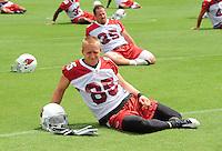 May 20, 2009; Tempe, AZ, USA; Arizona Cardinals wide receiver Jerheme Urban during organized team activities at the Cardinals practice facility. Mandatory Credit: Mark J. Rebilas-